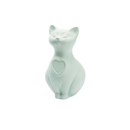 Gatto Bianco In Porcellana Arrivederci Cuccioli